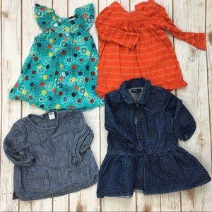 Gap Old Navy Zutano Dress Top Lot Baby Girl 12 Mos